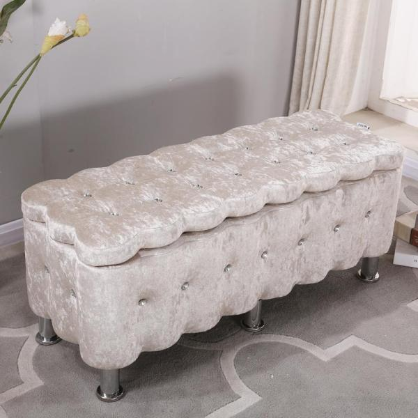 Small Sofa Stool Clothing Shop Solid Wood Fashion Creative Strip European Style Teapoy Table Footstool Sitting in with Fabric