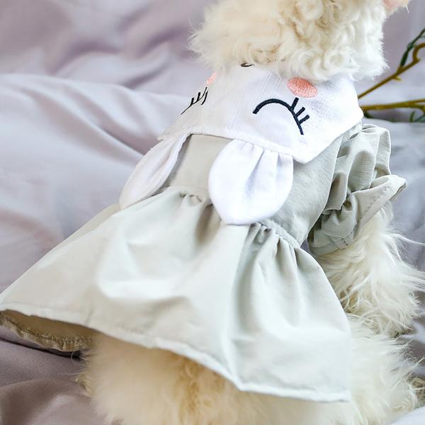 1 Chiếc Váy Thú Cưng Đáng Yêu Váy Trang Phục Thiết Kế Tai Thỏ Bằng Cotton Cho Chó Mèo Mùa Xuân Hè