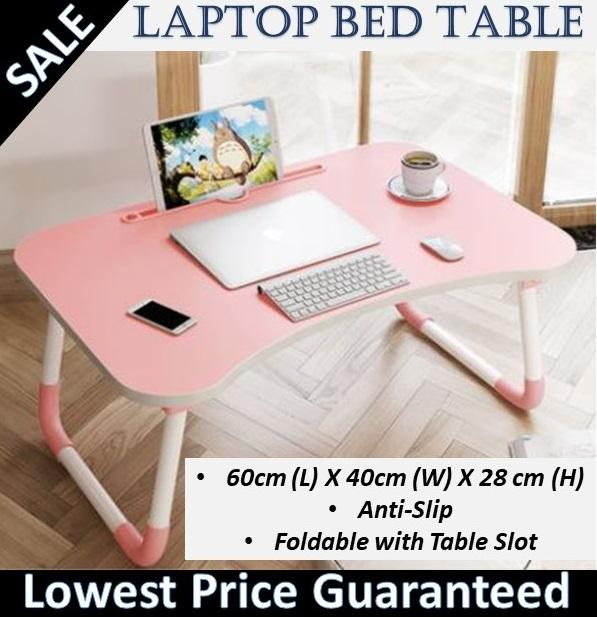 60cmx40cm Laptop bed table Bed Desk Dormitory Laptop Computer Do Table Foldable Lazy Table Board