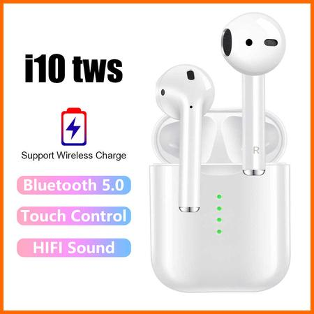 a06284f4df0 *STOCK CLEARANCE MEGA SALE* Original i10 TWS Wireless Bluetooth Earphones  Top Quality Headphones Headset