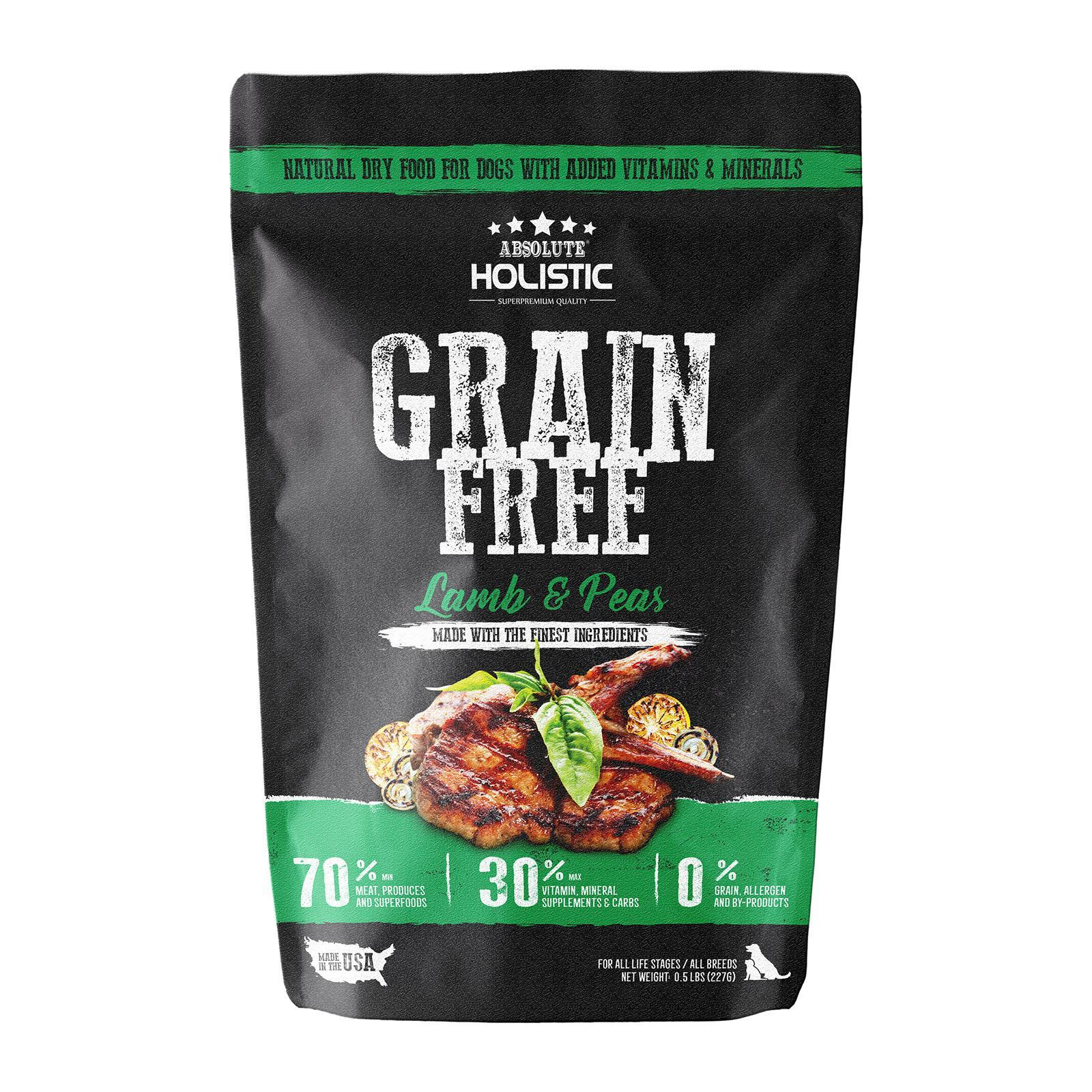 Absolute Holistic Grain Free Lamb And Peas Dog Food