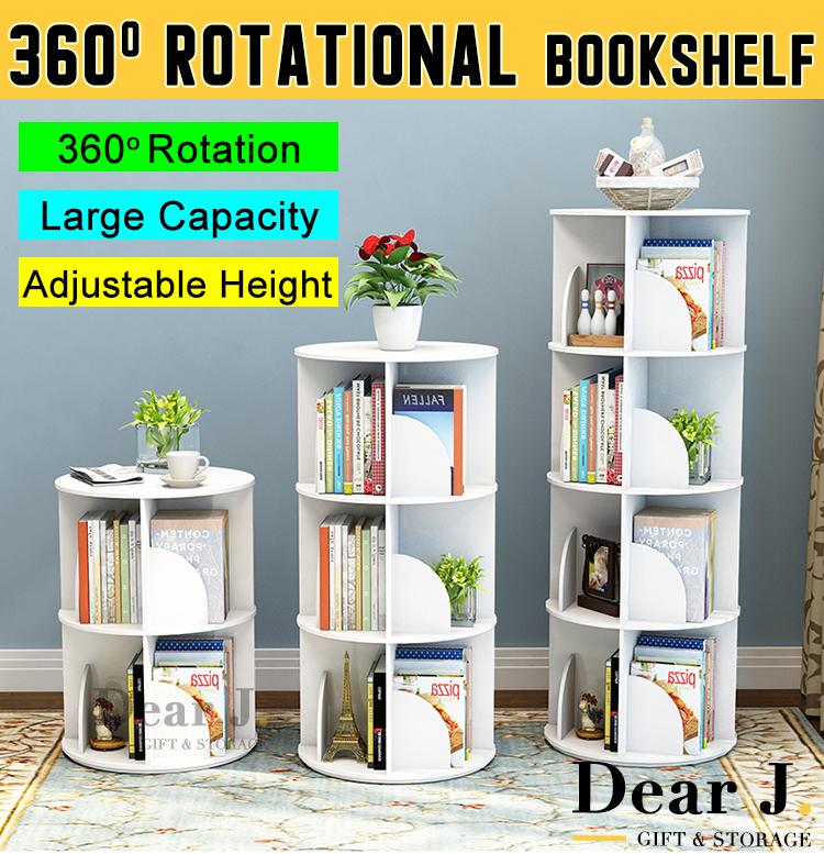 360degree rotational bookshelf/furniture/Storage/ book case /book rack/2-4 tier[DearJ]
