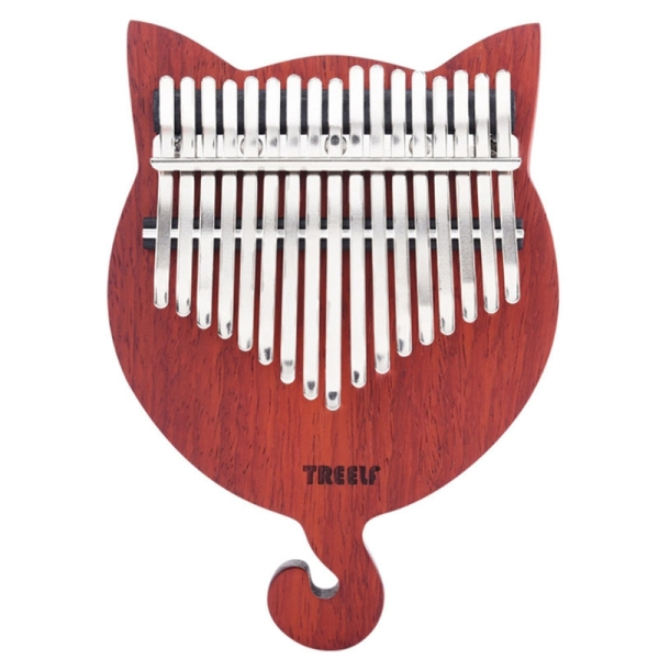 TREELF TF-17CAT Kalimba 17 Key Kalimba Solid Wood Thumb Piano Finger Piano Finger Precussion with Scale Stickers Tuning Hammer Malaysia