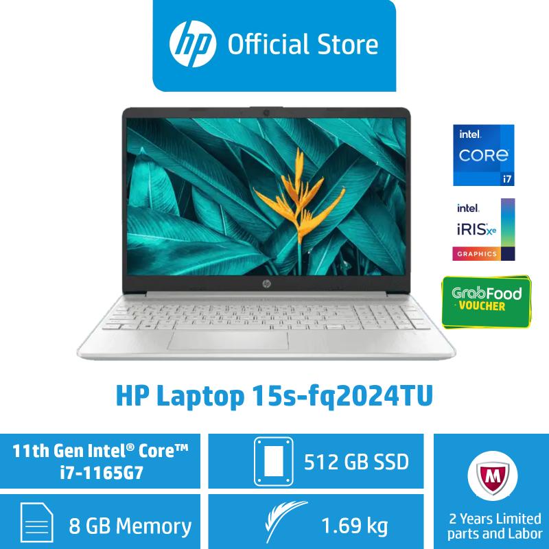 HP Laptop 15s-fq1013TU - 10th Gen i5 / 15s-fq2024TU - 11th Gen i7/ 15s-fq2015TU - 11th Gen i5 / 8GB RAM / 512GB SSD / Win 10 / Sleek, Thin, Light & Portable / Long Battery Life