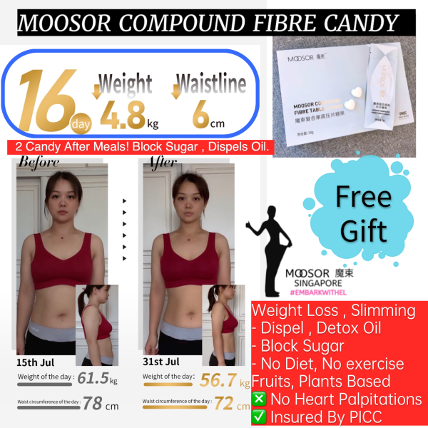 Buy 3 BOX MOOSOR CANDY PROMOTION SAVE $30 NEW UPGRADED READY STOCK! Dispels Oil Now - SLIMMING DETOX OIL MOOSOR 2 candy after meal -Block Sugar- FREE GIFT Singapore