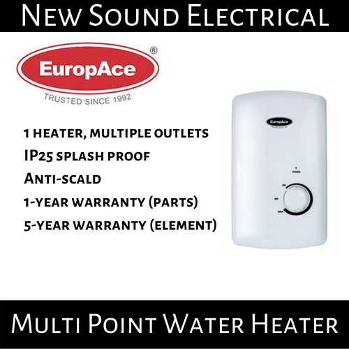 Europace Ewh 5451t Multi Point Water Heater | 1 Year Local Warranty.