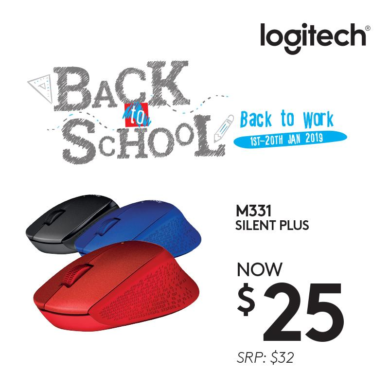 Logitech M331 Black Wireless Silent Plus Mouse with Rubber Grip (No Click Sound) #BacktoWorkBacktoSchoolSilently