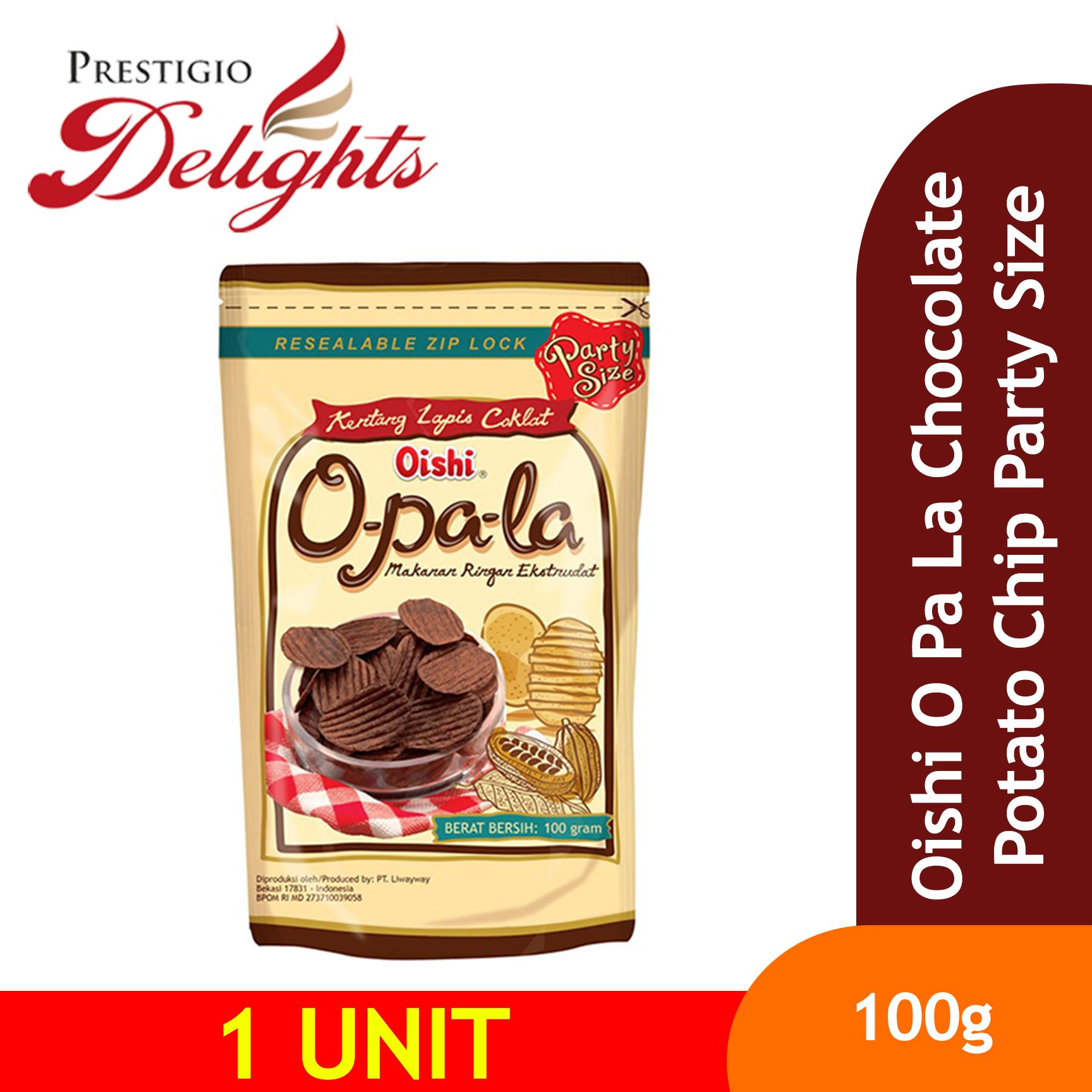 Oishi O Pa La Chocolate Potato Chip Party Size 100g By Prestigio Delights.