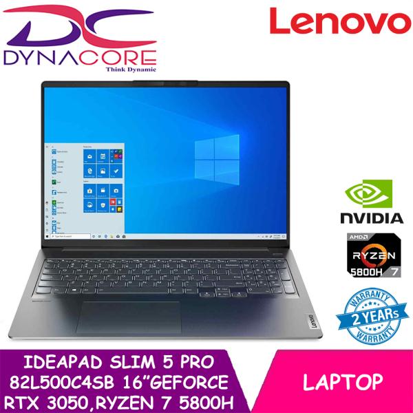 DYNACORE - Lenovo IdeaPad slim 5 pro | 82L500C4SB | 16 (2560x1600) IPS 350nits | GeForce RTX 3050 | AMD Ryzen 7 5800H | 16GB DDR4-3200 | 1TB SSD | Win10 Home | 2Y ADP + 2Y Premium care