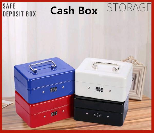 Stainless Steel Petty Cash Money Box Security Lock Lockable Metal Safe Small Fit For Home 5.9*4.5*2.9 - intl