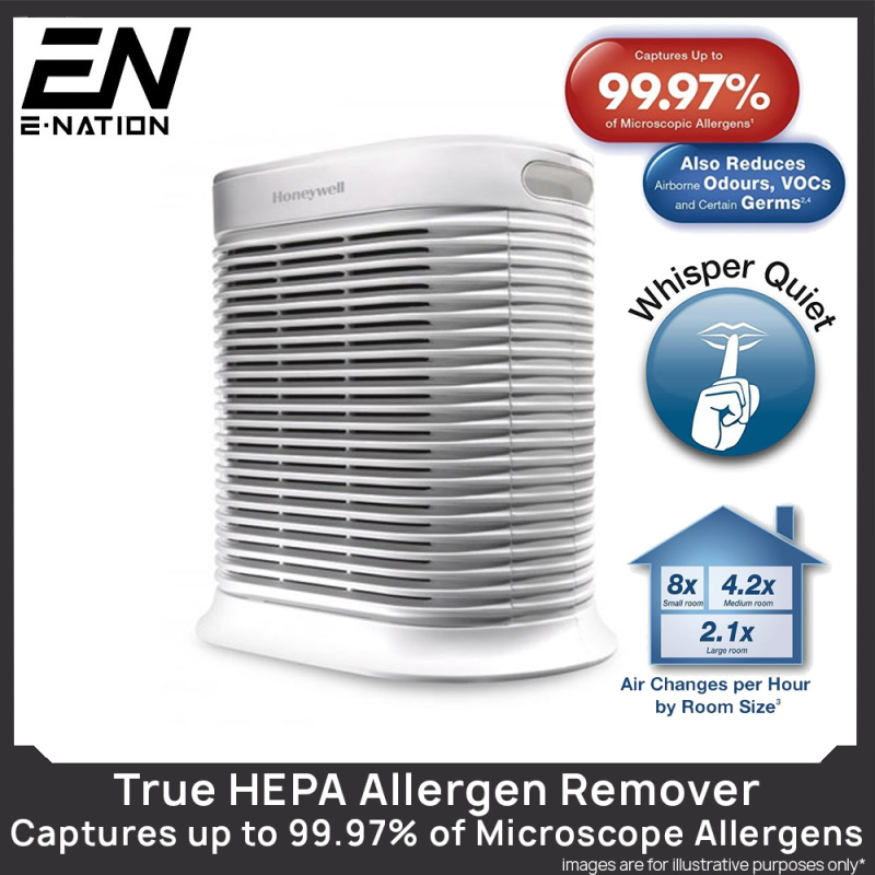 Honeywell Air Purifier HPA100 True HEPA With Allergen Remover UP TO 155 SQ FT (HPA100) / Captures up to 99.97% of Microscopic Allergens / ENERGY STAR qualified - Local Stocks Warranty ! Singapore