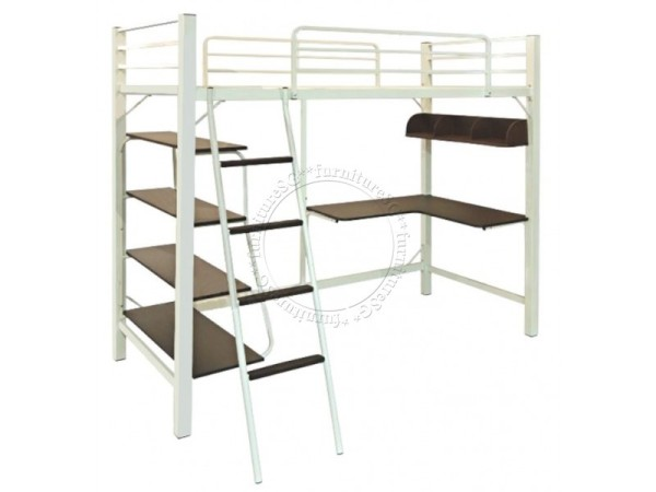 Loft Bed with Work Station and Shelves
