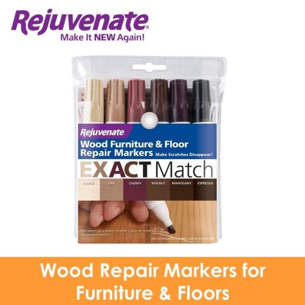 REJUVENATE Wood Repair Markers for Furniture & Floors 6 colours RJ-6WM