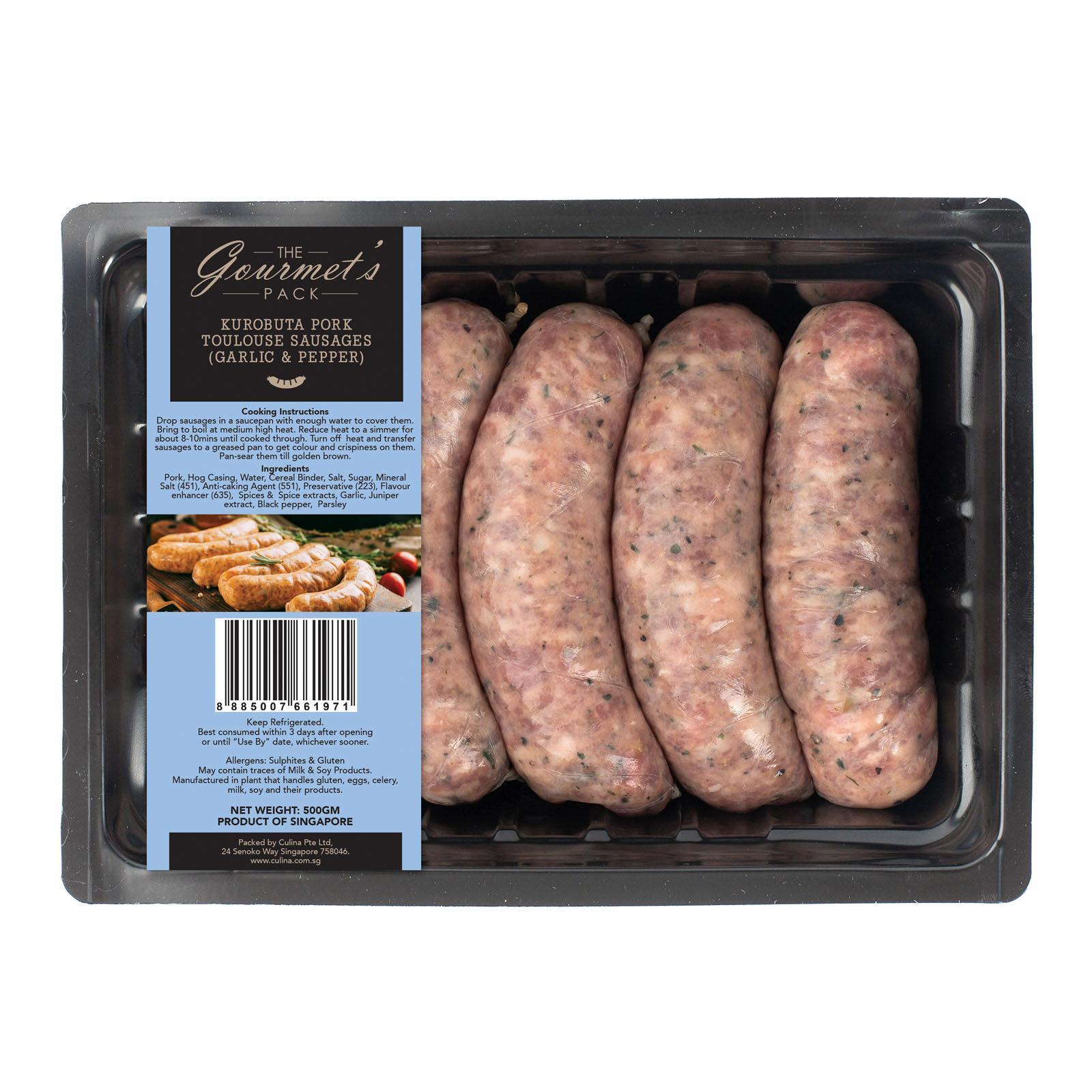 The Gourmet's Pack Kurobuta Pork Toulouse Sausages Thick 5s Per Pack