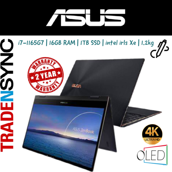 ASUS ZenBook Flip S | UX371EA-HL046T | i7-1165G7 | 16GB Ram | 1TB SSD | 13.3UHD OLED 4K 3840x2160 IPS Touch Display | 1.2kg |  intel irls Xe | 2yr warranty