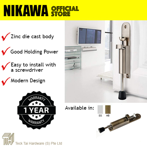 NIKAWA Foot Step on Door Stopper holder DH030. For Main Door, Room door stop at any angle