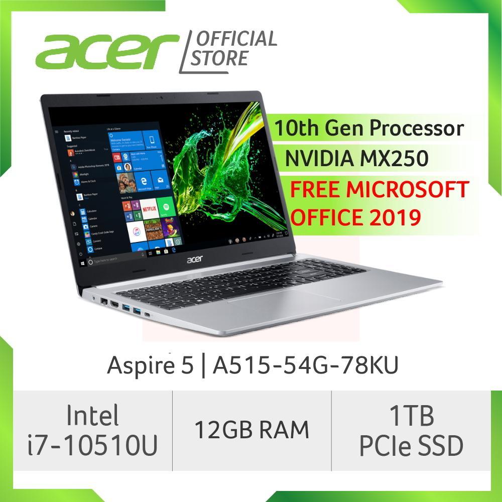 Acer Aspire 5 A515-54G-78KU(Silver) Laptop with LATEST 10th Gen Intel Core i7-10510U Processor (FREE MS OFFICE 2019)
