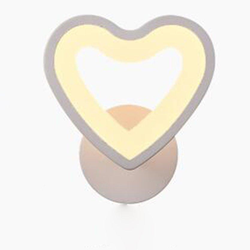 TOP LED Wall Lamp Heart-Shaped Bedside Light Aisle Lamp