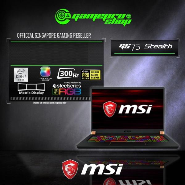 MSI GS75 Stealth 10SFS Gaming Laptop (i9-10980HK/16GB DDR4/1TB SSD/NVIDIA RTX2070 Super Max-Q 8GB GDDR6/17.3FHD 300Hz /W10P) - 10SFS-297SG (2Y)