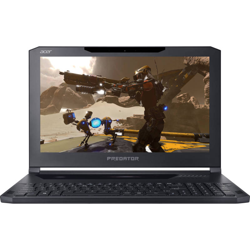 "Acer 15.6 Predator Triton 700 Q2LAA Acer Predator Triton 700 PT715-51-732Q Ultra-Thin Gaming Laptop, 15.6"" FHD 120Hz G-SYNC, i7-7700HQ, Overclockable GeForce GTX 1080 8GB MAX-Q Design, 32GB DDR4, 512GB SSD (256GBx2), RGB Mech KB(700)"