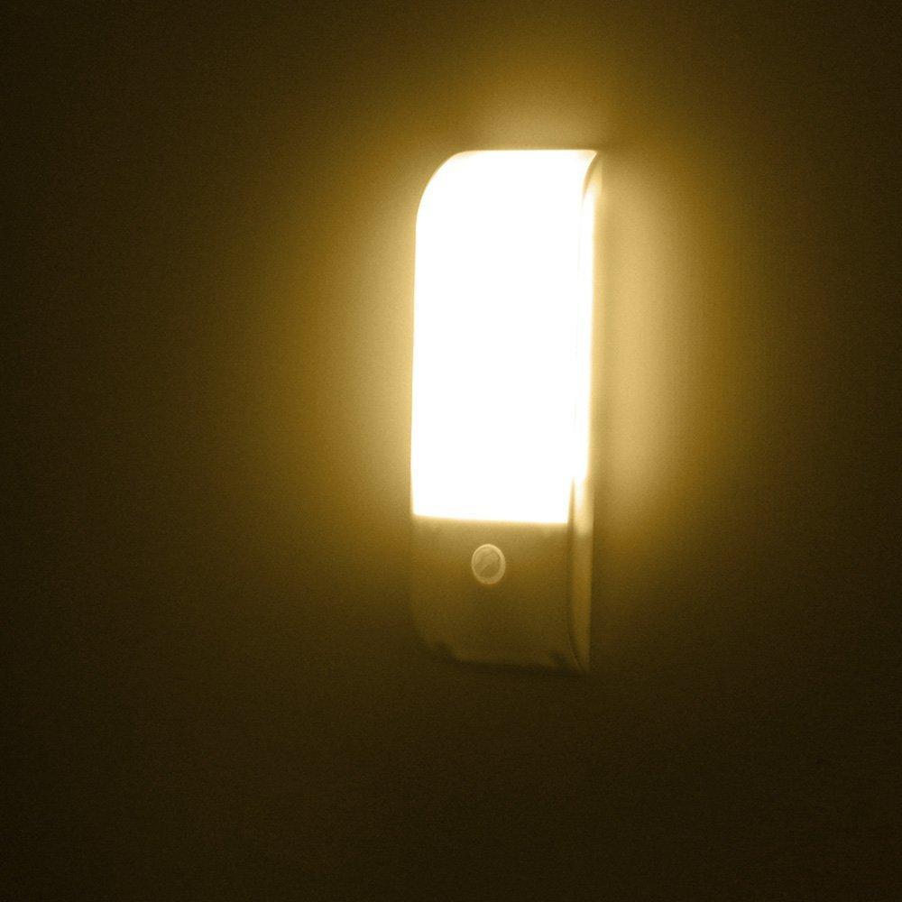 Licer Led Body Motion Sensor Night Light Toilet Bathroom Corridor Lamp 12 Leds Usb Rechargeable Indoor Sensor Lighting Warm White Light By Lightinginchina.