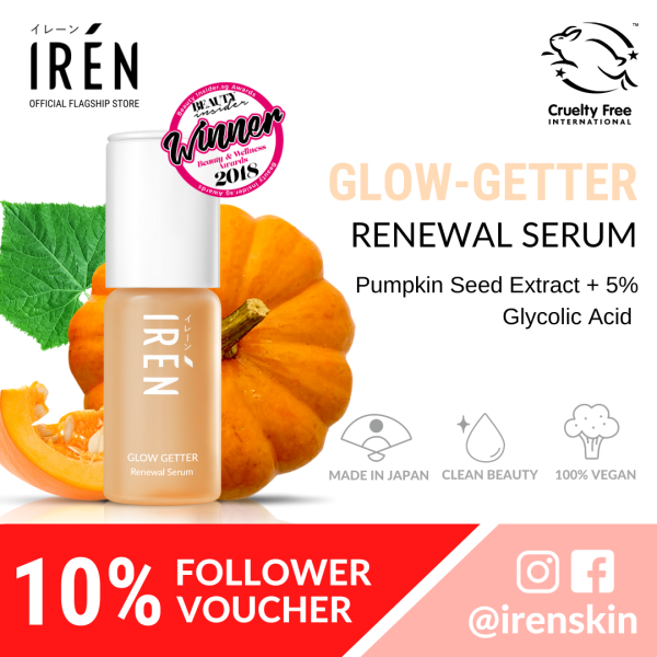 Buy IRÉN Glow-Getter Renewal Serum 15ml [Remove Blackheads, Unclog Pores, Oil-Control, Exfoliate and Renew Skin] Singapore