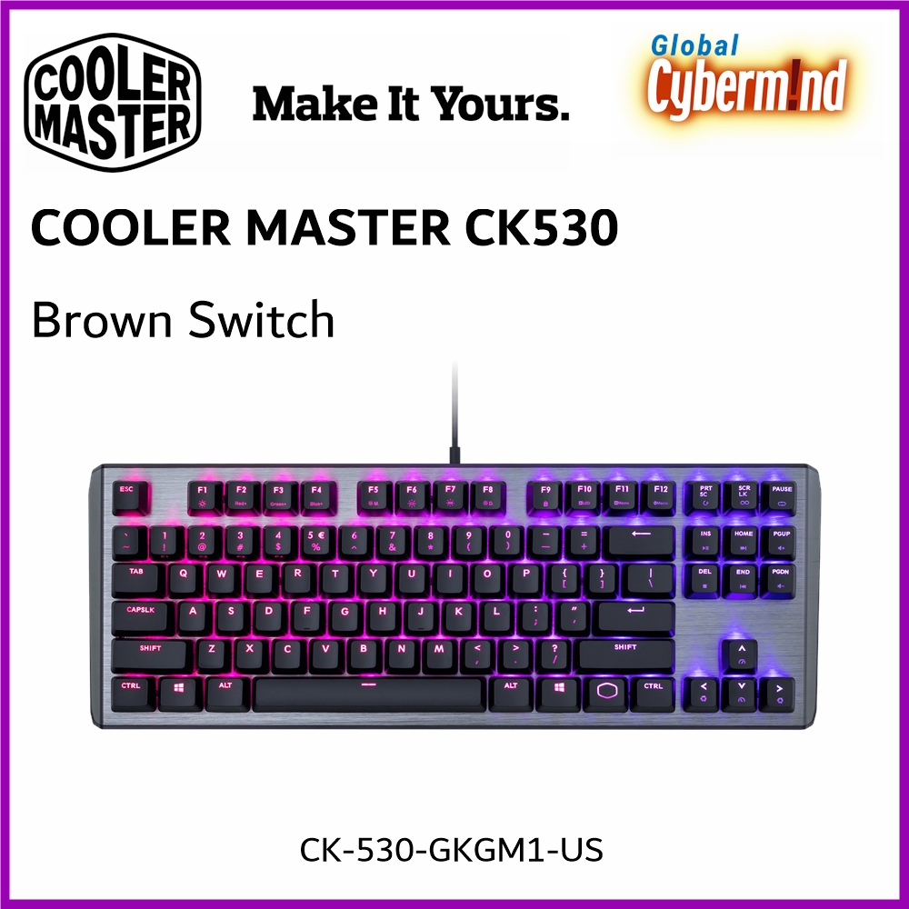 Cooler Master CK530 Gateron RGB Mechanical Gaming Keyboard [Brown Switch] ( Brought to you by Cybermind ) Singapore