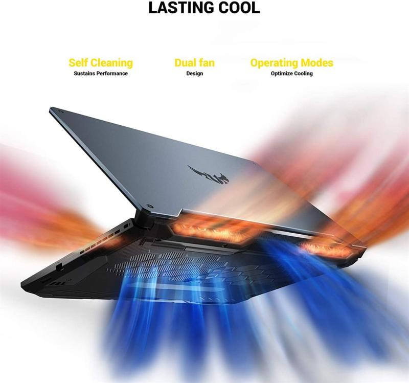 "ASUS TUF Gaming A15 Gaming Laptop, 15.6"" 144Hz Full HD IPS-Type, AMD Ryzen 7 4800H, GeForce GTX 1660 Ti, 16GB DDR4, 512GB PCIe SSD, 90WHr Battery, RGB Backlit KB, Windows 10 Home"
