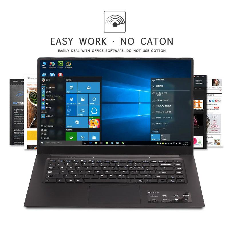 Ultra-Thin Laptop Free Shipping And Flash Deal New Business Portable Laptop Durable Z8350 1920*1080 15.6 Inches Windows 10 Operating System Supply For Office Working Black (15.6 Inch 4gb 64gb Intel W10 ) By Mengying Mall.