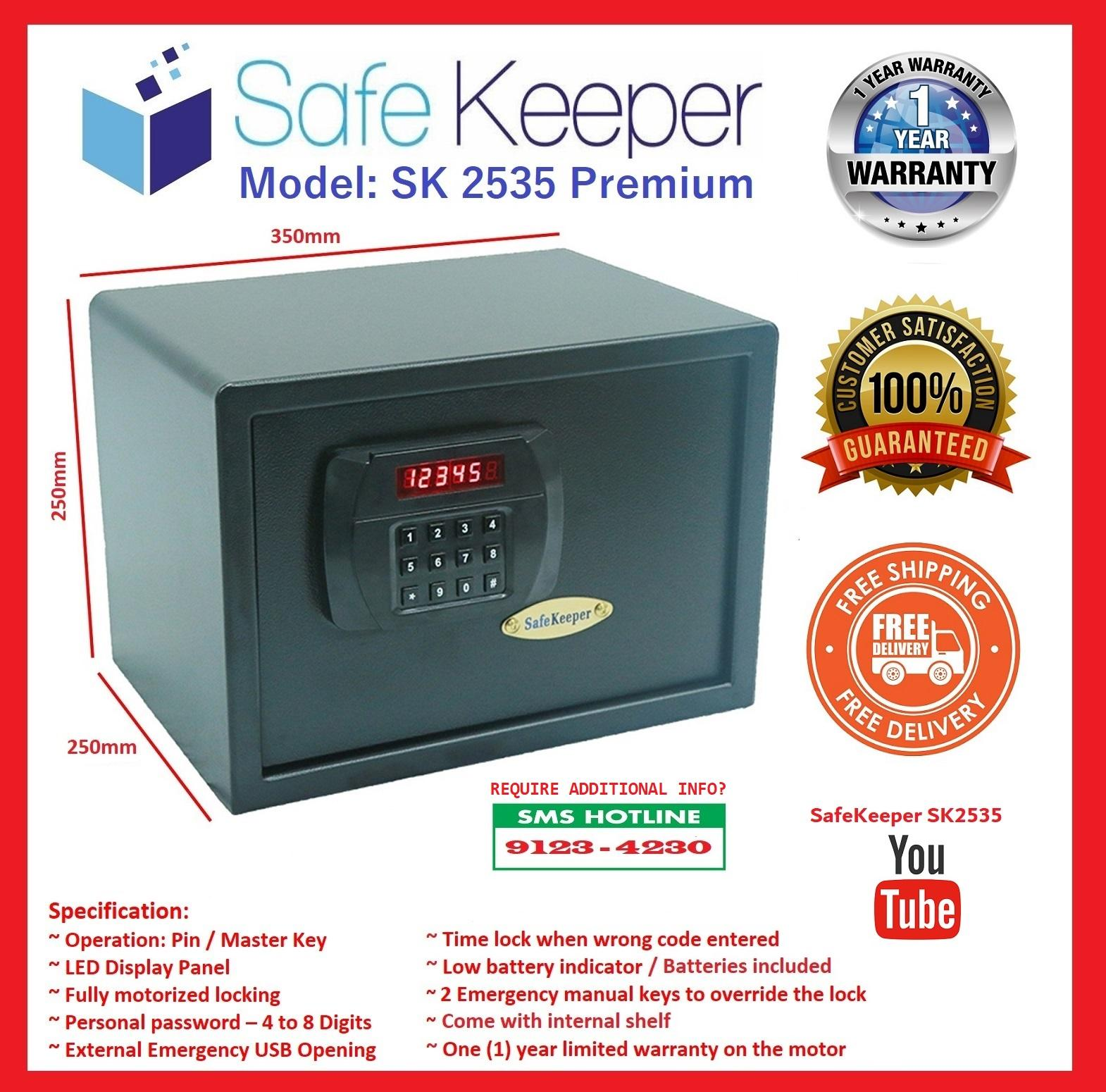 SafeKeeper SK2535 Medium Safe (100% New Product ~ Color: Black) ~ SG Seller ~ FREE Delivery ~ 3 Working Days