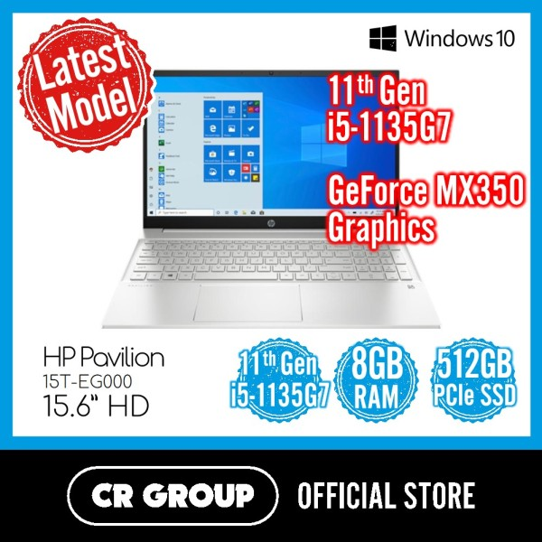 [Latest Model] [Same Day Delivery] HP Pavilion 15T-EG000 15.6 | Intel 11th Gen i5-1135G7 | 8GB DDR4 RAM | 512GB PCle SSD | MX350 Graphics