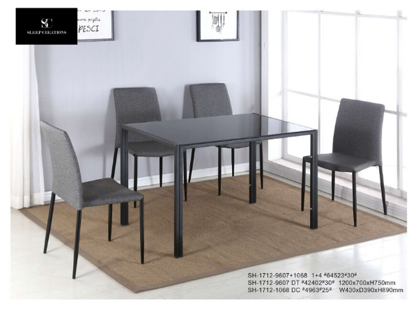 Ash 1+4 Dining Table and Chair Set