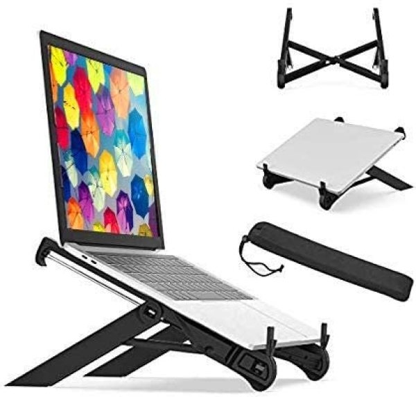 Laptop Stand Nexstand K7 Portable, Foldable & With Free Carrying Case For Improved Ergonomics. Suitable For All Laptops Brands Macbook, Lenovo, Dell, Tablets & Ipad.