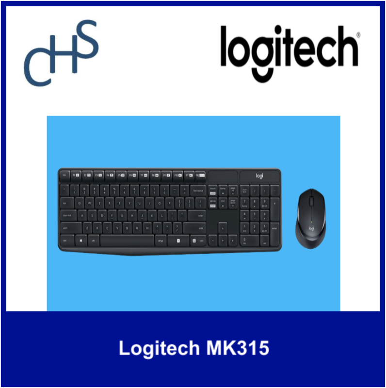 (Original) Logitech MK315 | Wireless (2.4 GHz) with Nano USB receiver | Range: 10 meters | Compatible for Windows 7, Windows 8, Windows 10 or later | 1 year warranty Singapore