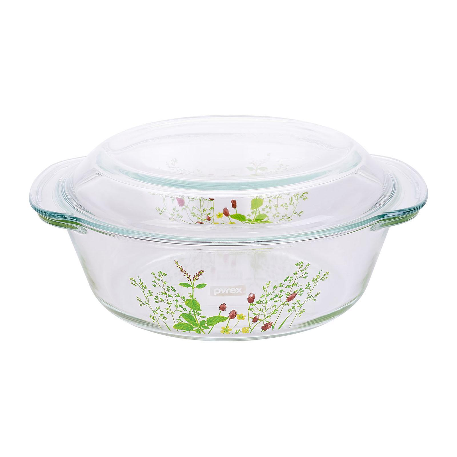 Pyrex 2.0L Casserole with Lid - Provence Garden