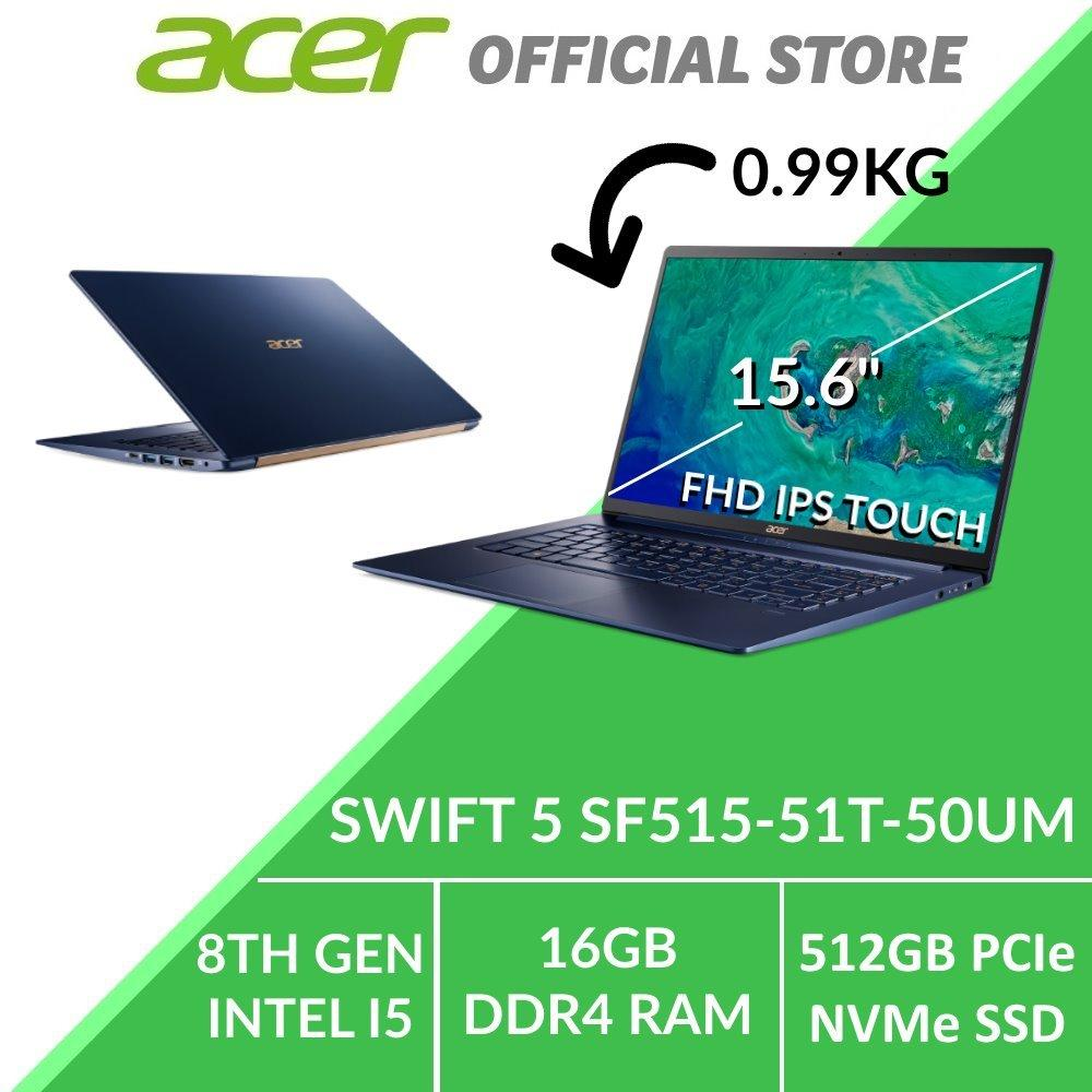 Acer Swift 5 SF515-51T-50UM 15.6-Inch Intel i5 Thin and Light Laptop (Blue)