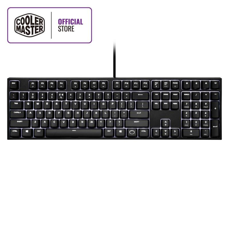 Cooler Master CK320 Mechanical Keyboard, Cherry MX Switches, Low Profile Classic Design, White LED Backlighting (Full Layout / 108 Keys) Singapore