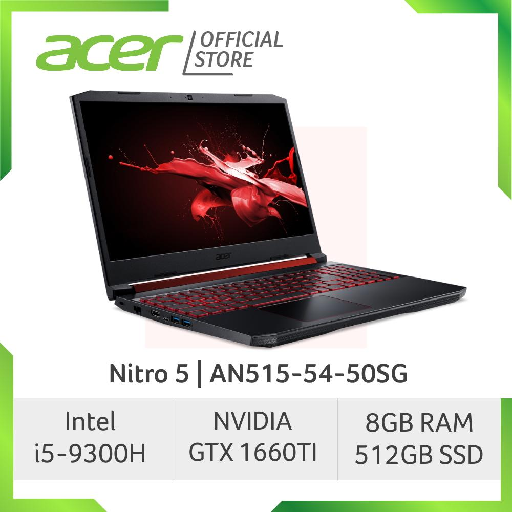 Acer Nitro 5 AN515-54-50SG NEW gaming laptop with NVIDIA GeForce GTX1660Ti Graphics