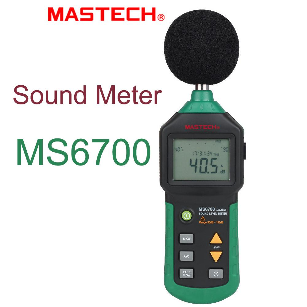 Mastech MS6700 Digital Sound Level Meter Auto Range 30dB to 130dB Industrial Grade Noise Meter DB Sound Meter