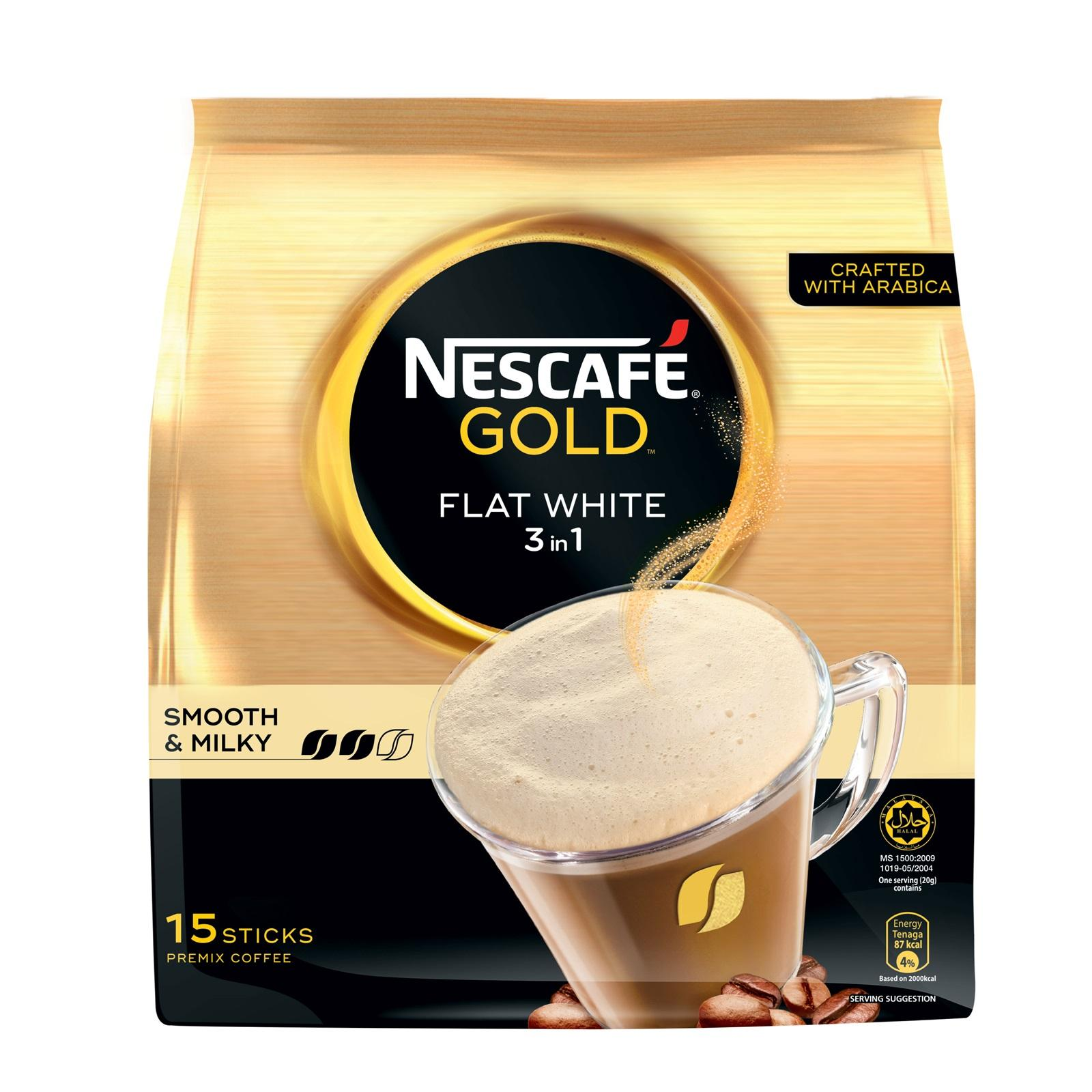 Nescafe Gold 3 in 1 Instant Coffee - Flat White