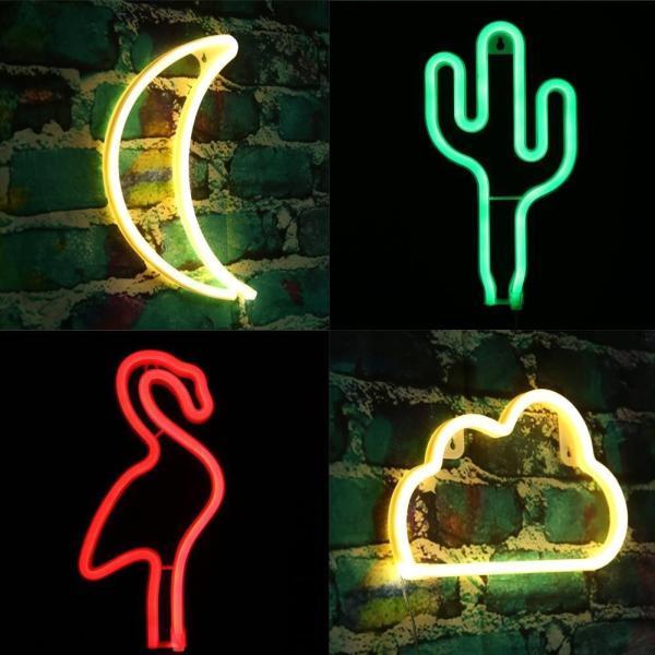 LED Night Light USB Battery Box Neon Lamp Home Holiday Wedding Decoration