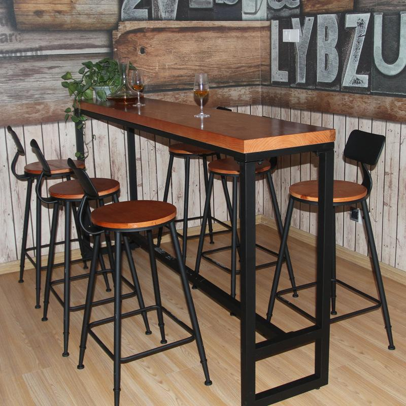 Northern Europe Solid Wood Coffee Tables And Chairs Living Room Bar Tables Household Bar Tables