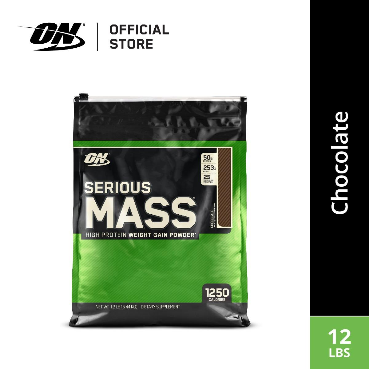 Optimum Nutrition Serious Mass (12 Lbs) - Chocolate By Body & Fit.
