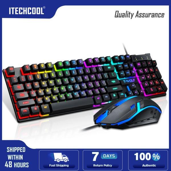 TF200 USB Wired Gaming Ergonomic RGB Back Light Keyboard Mouse Combos Set Singapore