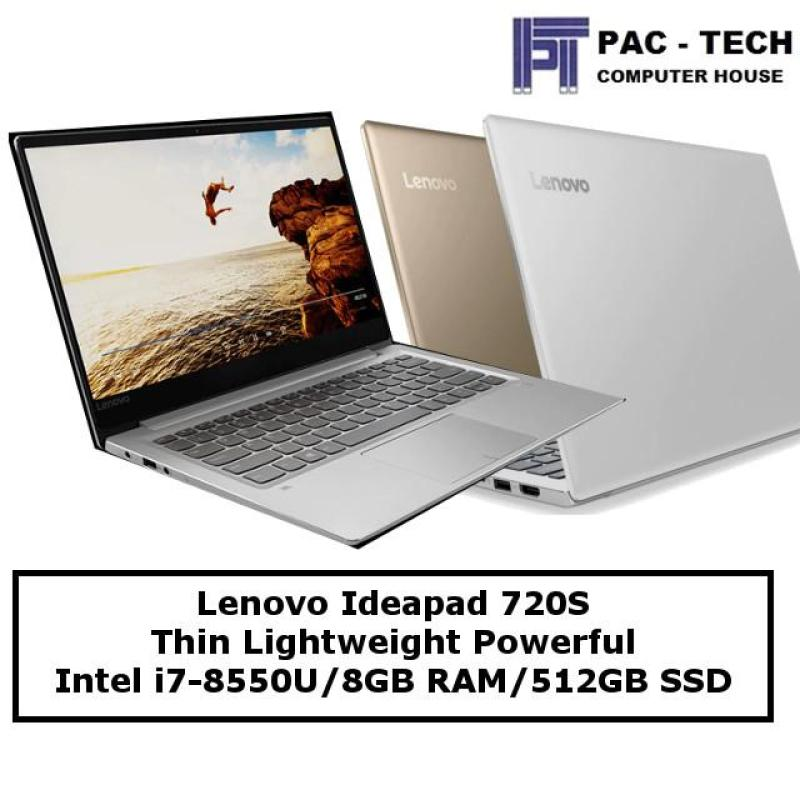 Lenovo Ideapad 720S Lightweight Laptop / 1.1KG / i7-8550U / 8GB RAM / 512GB PCIe Solid State Drive / 2 Years Lenovo Warranty