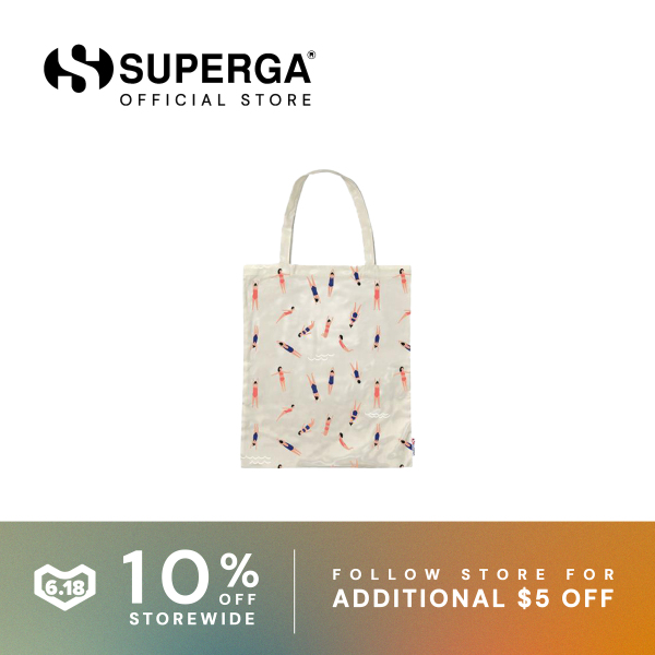 Superga Fantasy PVC Tote Bag White Swimming