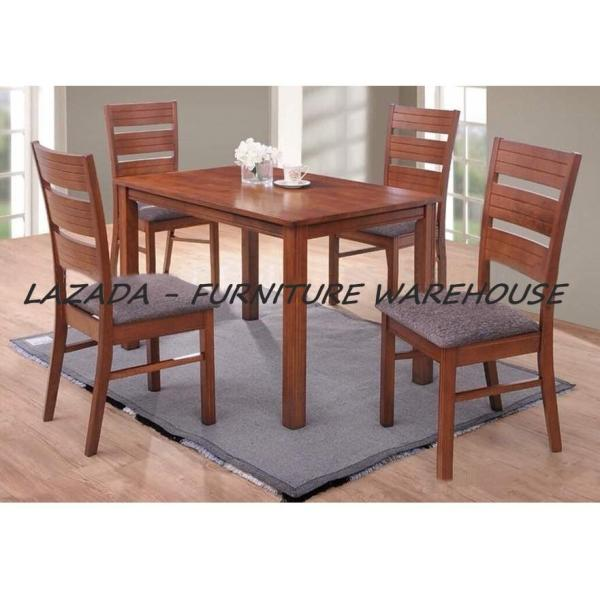 LYNN 4 SEATER WOODEN DINING SET