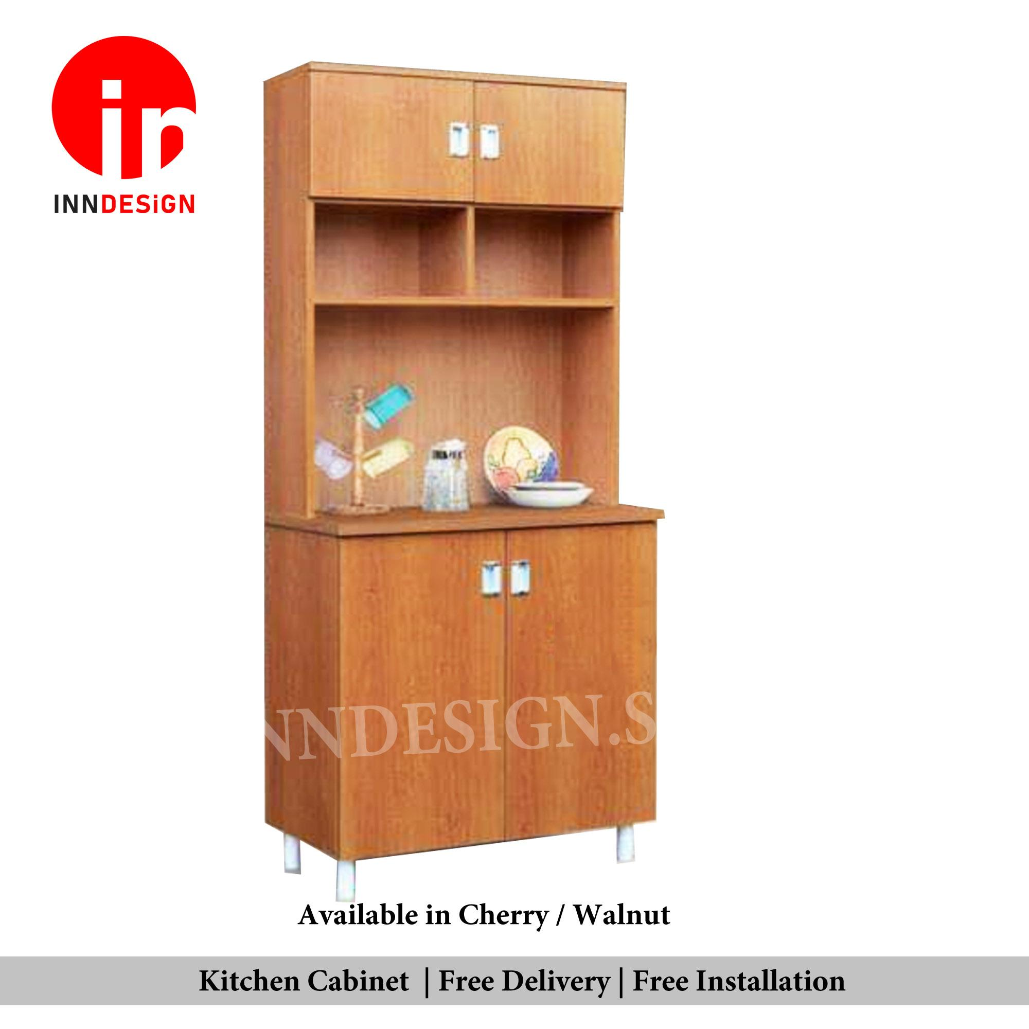 Samuel 2 Doors With Top Solid PlyWood Kitchen Cabinet (Free Delivery and Installation) (Delivery Within 1 Working Day)