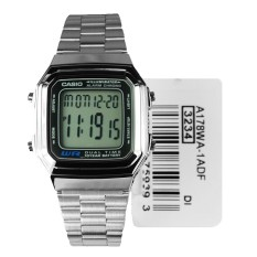 Price Compare Casio Men S Silver Stainless Steel Strap Watch A178Wa 1Adf