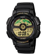 Purchase Casio Ae 1100W 1B Digital Black Resin Band World Time Stopwatch Alarm Watch Online